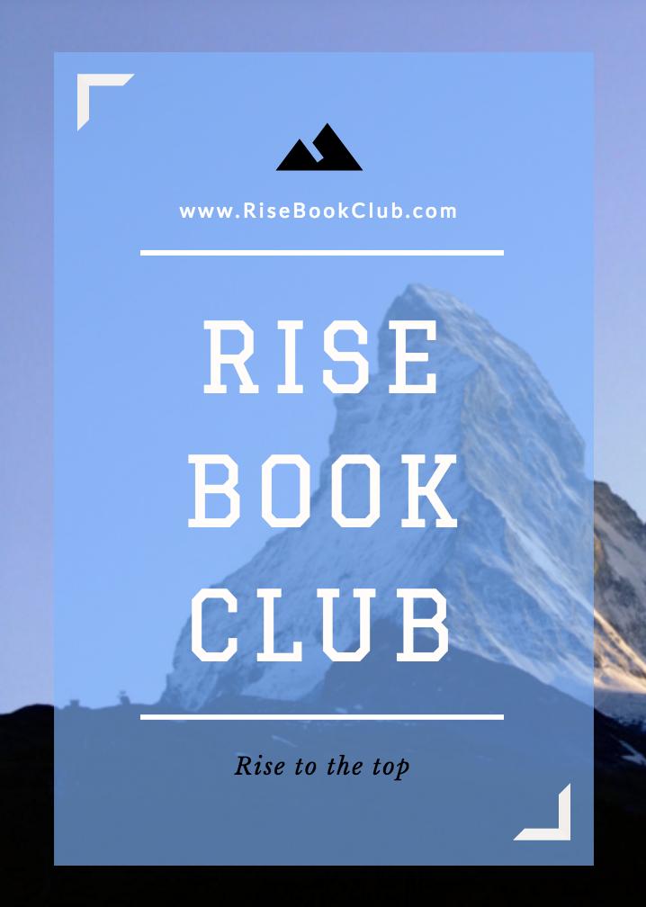 Rise Book Club Poster