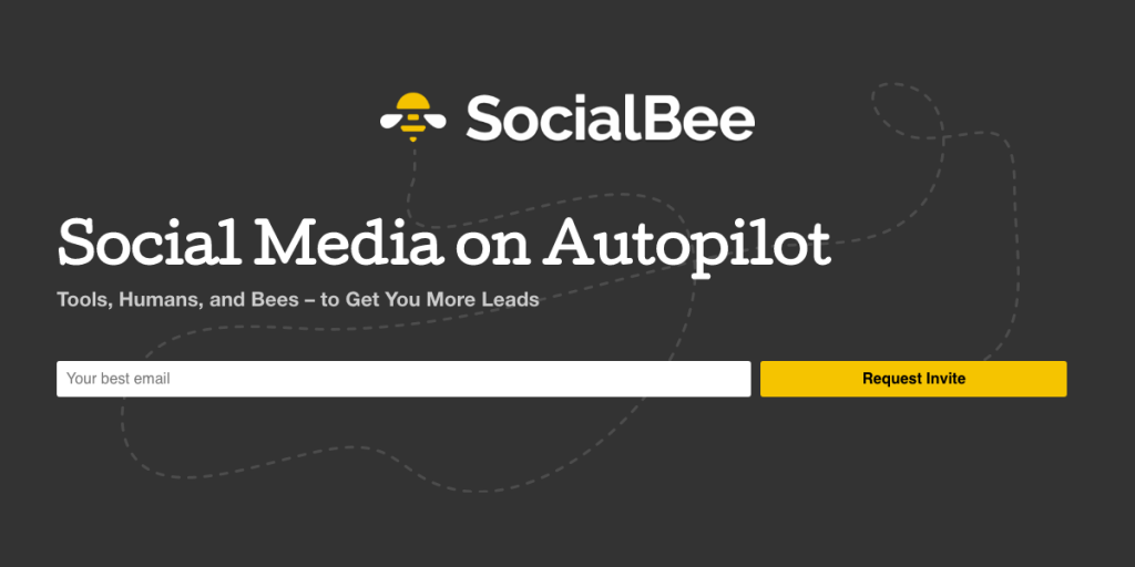 SocialBee Header - Social Media on Autopilot